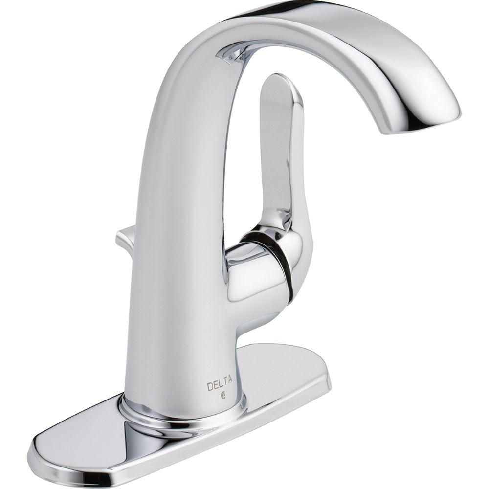 Soline Single-Handle Bathroom Faucet in Chrome Finish