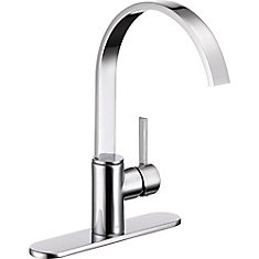 Mandolin Single Handle Centreset Kitchen Faucet in Chrome