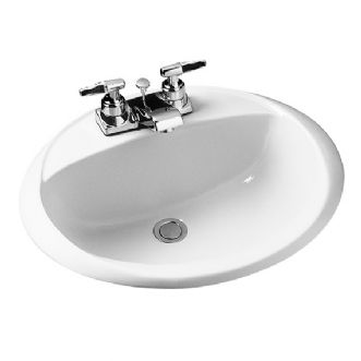 Crane Galaxy Oval Sink Basin in White