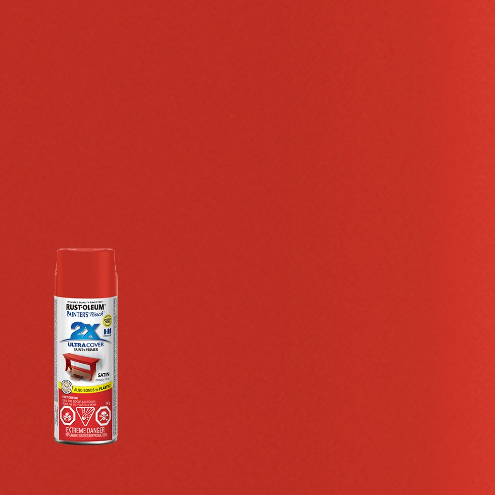 Painter's Touch 2X Satin Poppy Red 281001 Canada Discount