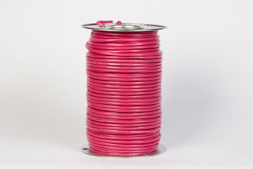 Câble FAS/LVT 18/5 AWG rouge
