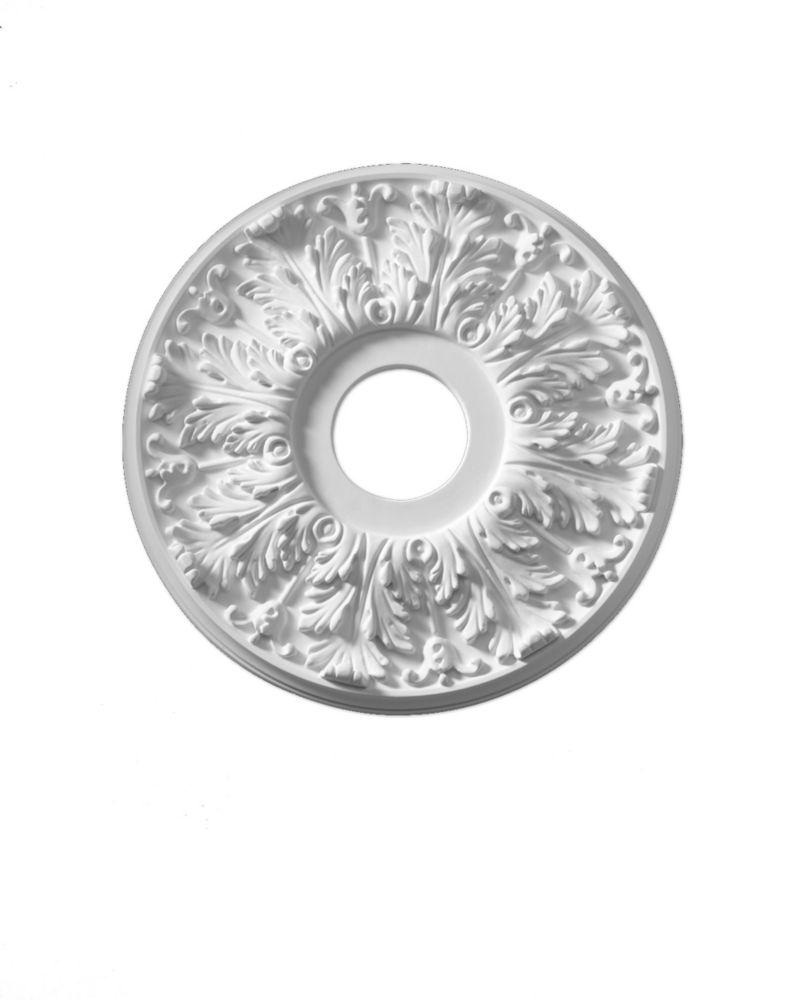 Rosace de plafond Florentine lisse 16 po x 16 po x 1-1/8 po