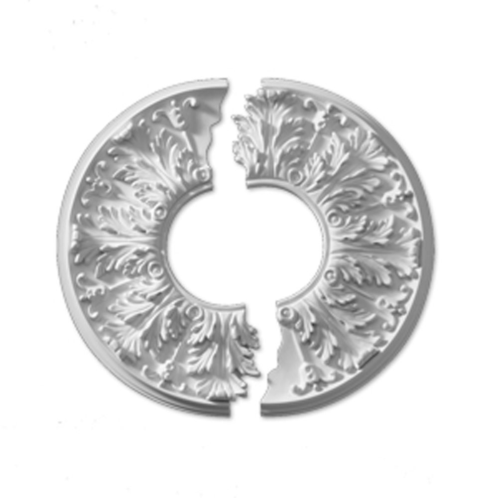 15-13/16 Inch x 15-13/16 Inch x 5/8 Inch Flor Smooth Ceiling Medallion (2-Piece) CM16FL2 in Canada