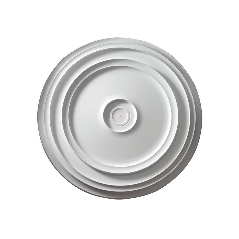 24 3/16-inch x 24 3/16-inch x 1 9/32-inch Reece Smooth Ceiling Medallion