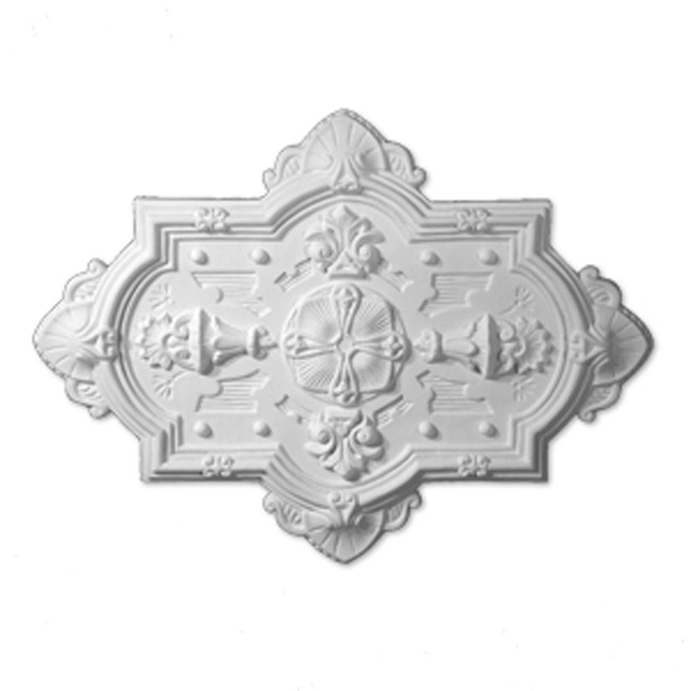 38 1/8-inch x 38 1/8-inch x 1 13/16-inch Symettria Smooth Ceiling Medallion