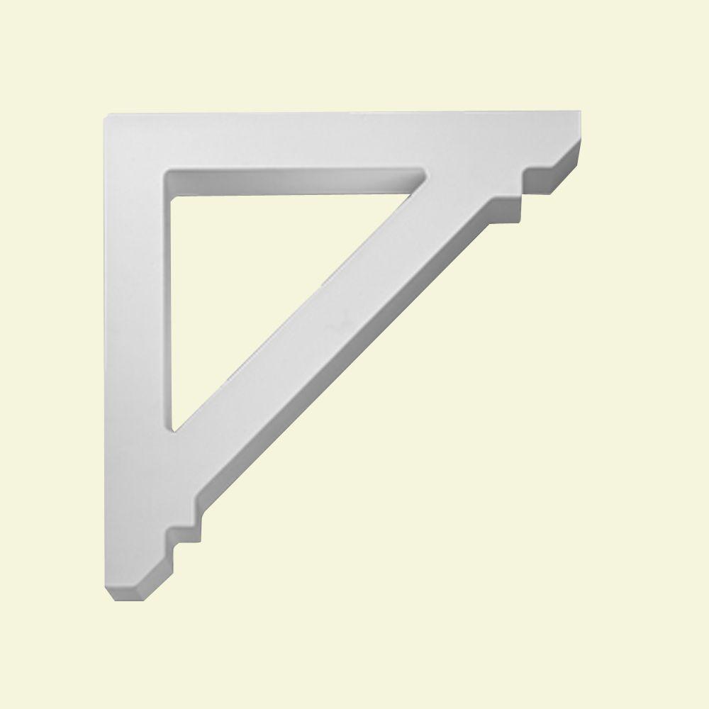 Console en polyuréthane apprêté 15-7/8 po x 2 po x 15-7/8 po