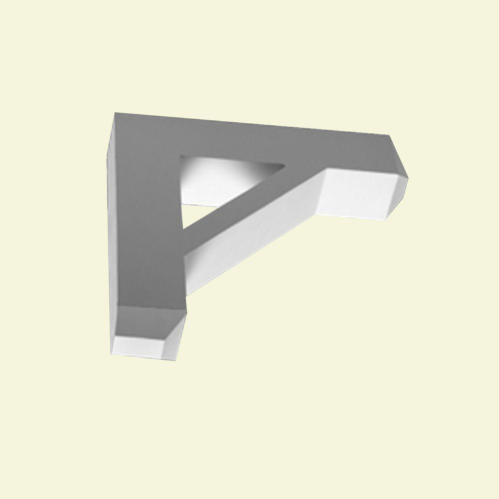 Console en polyuréthane apprêté 16-1/2 po x 3-1/2 po x 16-1/2 po