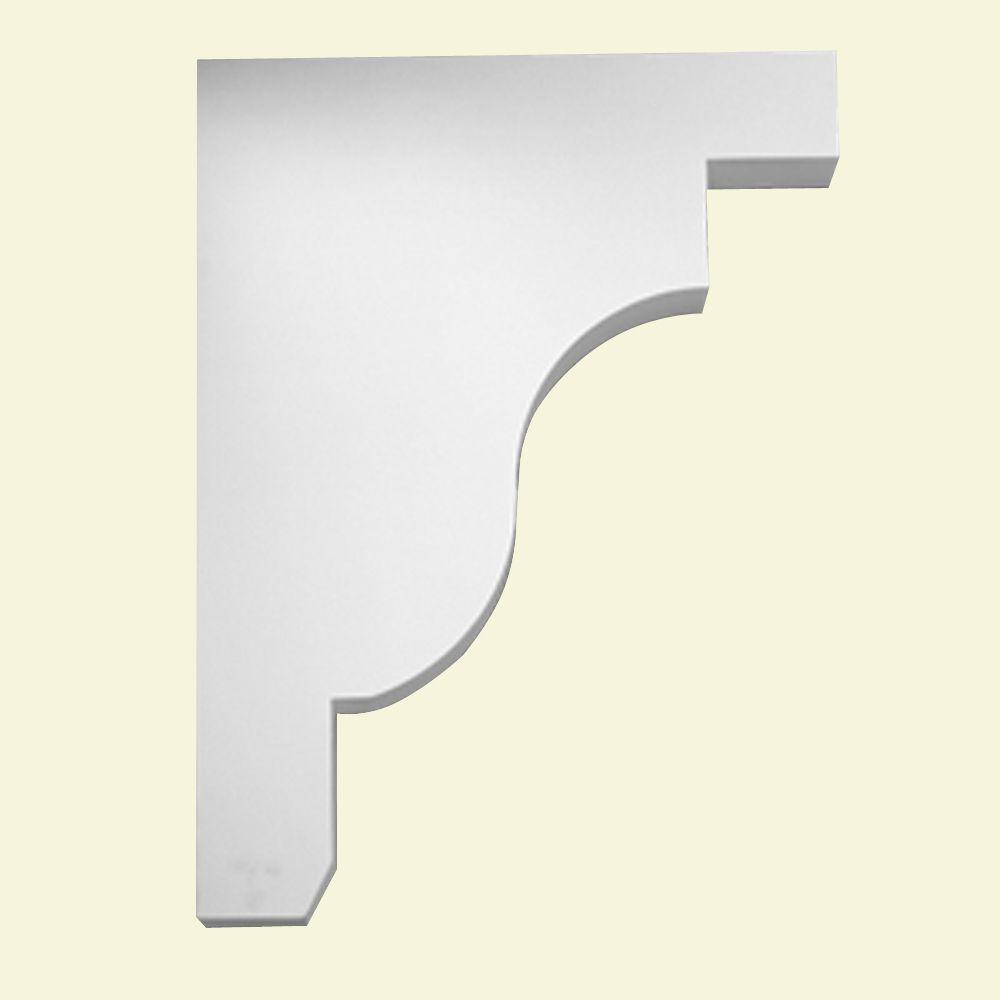 Console en polyuréthane apprêté 18 po x 3 po x 24 po