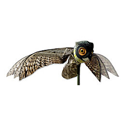 Bird-X Inc. Prowler Owl with Flapping Wings Realistic Owl Decoy Scare Birds