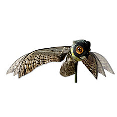 Prowler Owl with Flapping Wings Realistic Owl Decoy Scare Birds