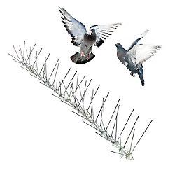 Bird-X Inc. Stainless Bird Spikes 100 Foot Kit Guaranteed Bird Repellent Control #1 Best Seller