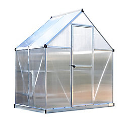 Palram Deluxe 6 ft. x 4 ft. Twin Wall Silver Greenhouse