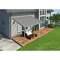 10 ft. x 14 ft. Feria Patio Cover in Grey