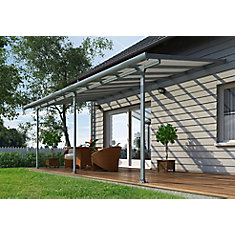 Feria 10 ft. x 28 ft. Patio Cover in Grey