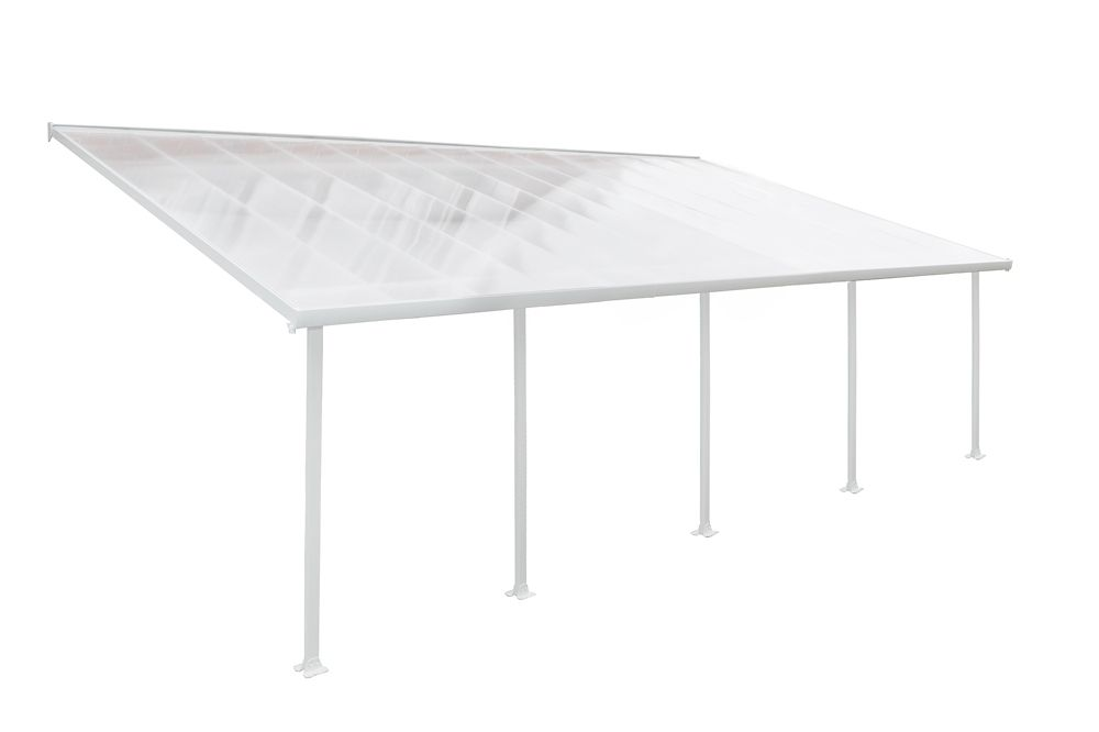 13 ft. x 26 ft. Feria Patio Cover in White