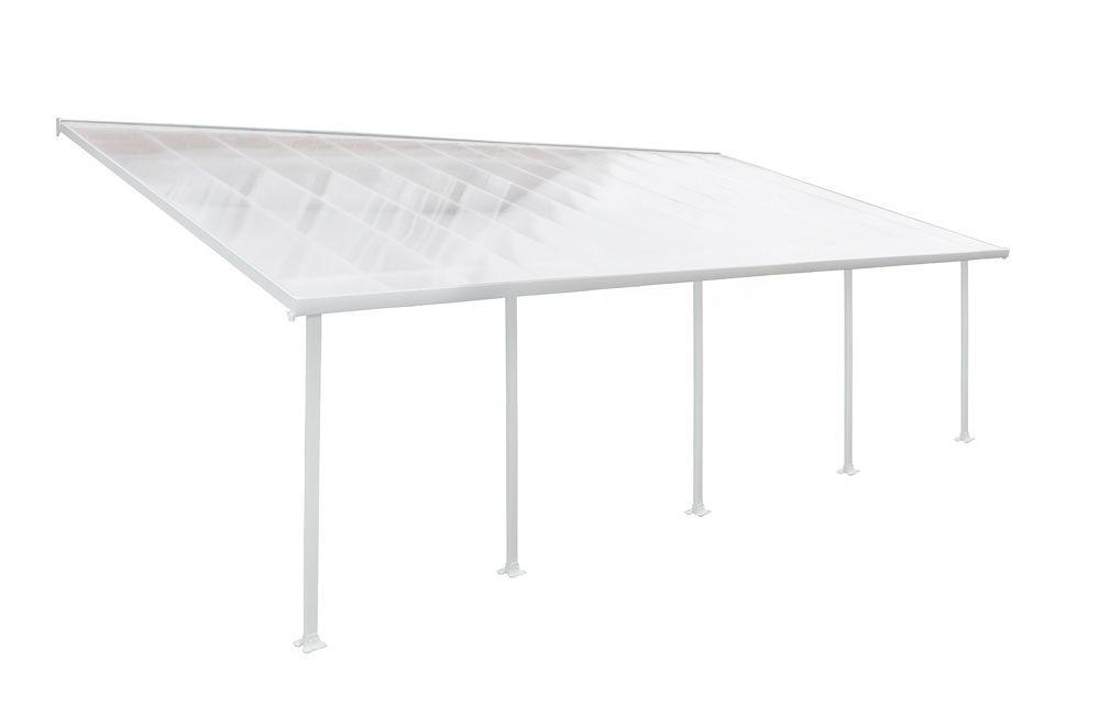 Palram Feria 13 ft. x 28 ft. Patio Cover in White