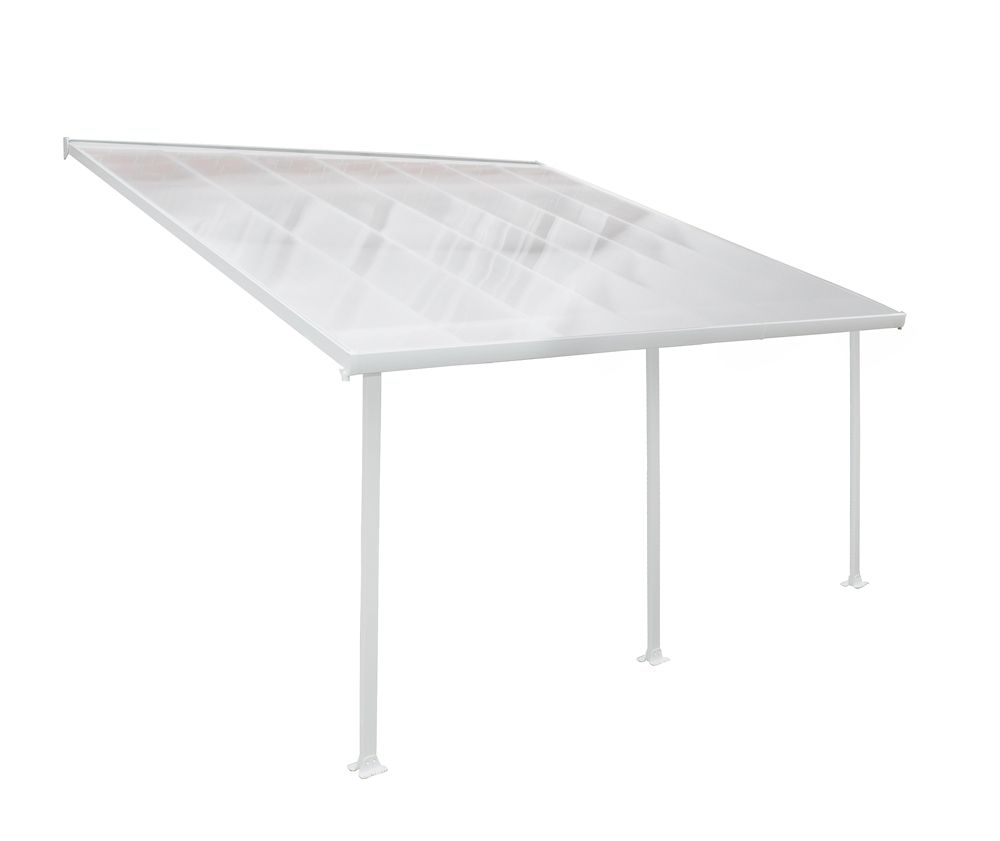 13 ft. x 14 ft. Feria Patio Cover in White