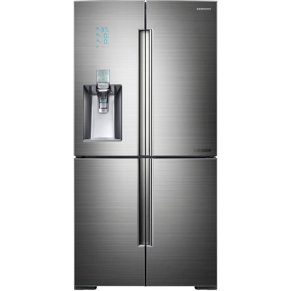 34 cu. ft. 3-Door French Door Refrigerator with Sparkling Water Dispenser in Stainless Steel