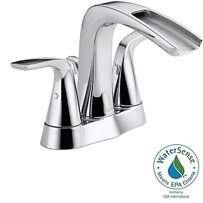 4 inch center bathroom faucet. Tolva Centerset  4 Inch 2 Handle High Arc Bathroom Faucet In Chrome With Lever Handles Delta