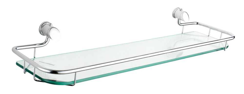 Infiniti 21.5 Inch Glass Shelf, Brushed Nickel