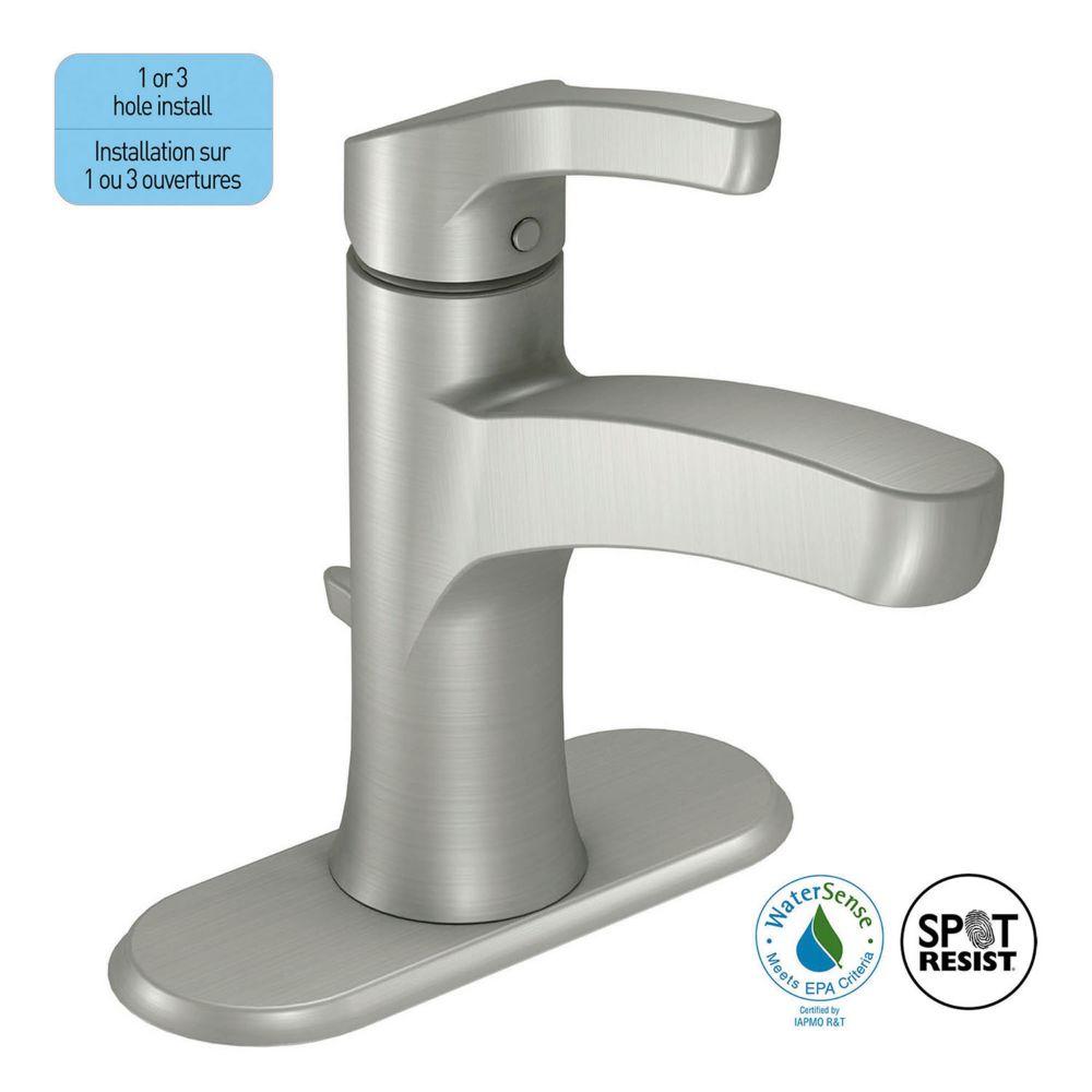 Danika Single-Handle Bathroom Faucet in Spot Resist Brushed Nickel Finish