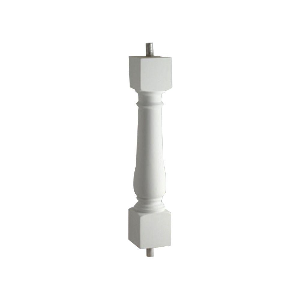 Balustre classique pour balustrade de 7 po en polyuréthane 24 po x 7 po x 7 po