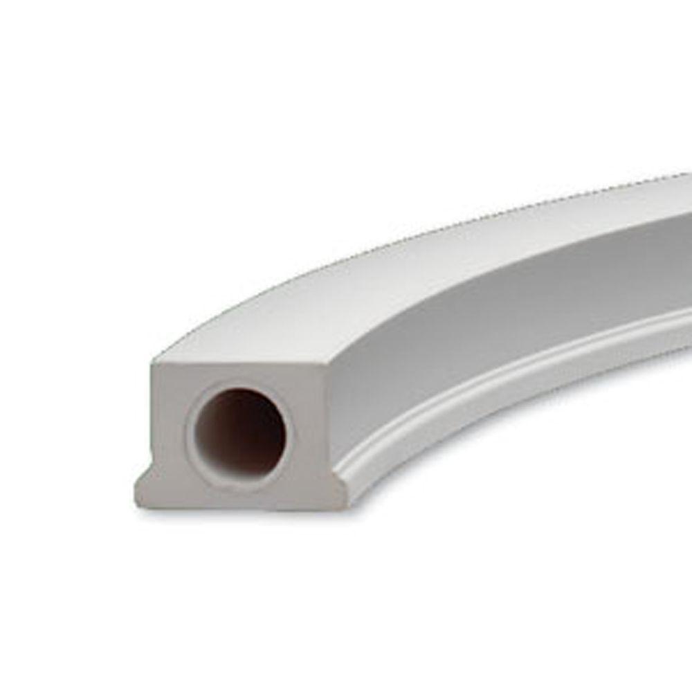 Lisse basse courbée pour balustrade de 5 po en polyuréthane 4-1/2 po x 3-1/8 po x 84-27/32 po