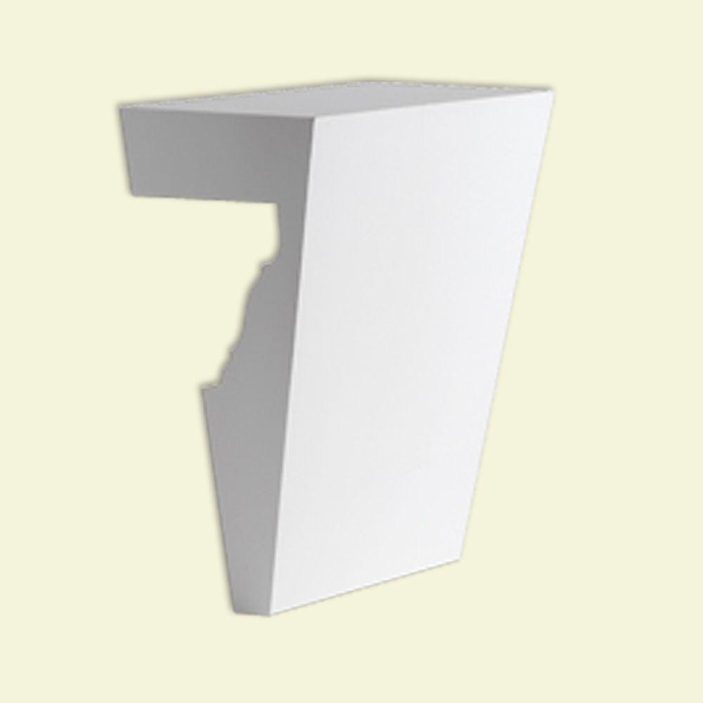 Clé de voûte en polyuréthane de 5-3/4 po x 7 po pour linteau de porte/fenêtre de 6 po et 7 po