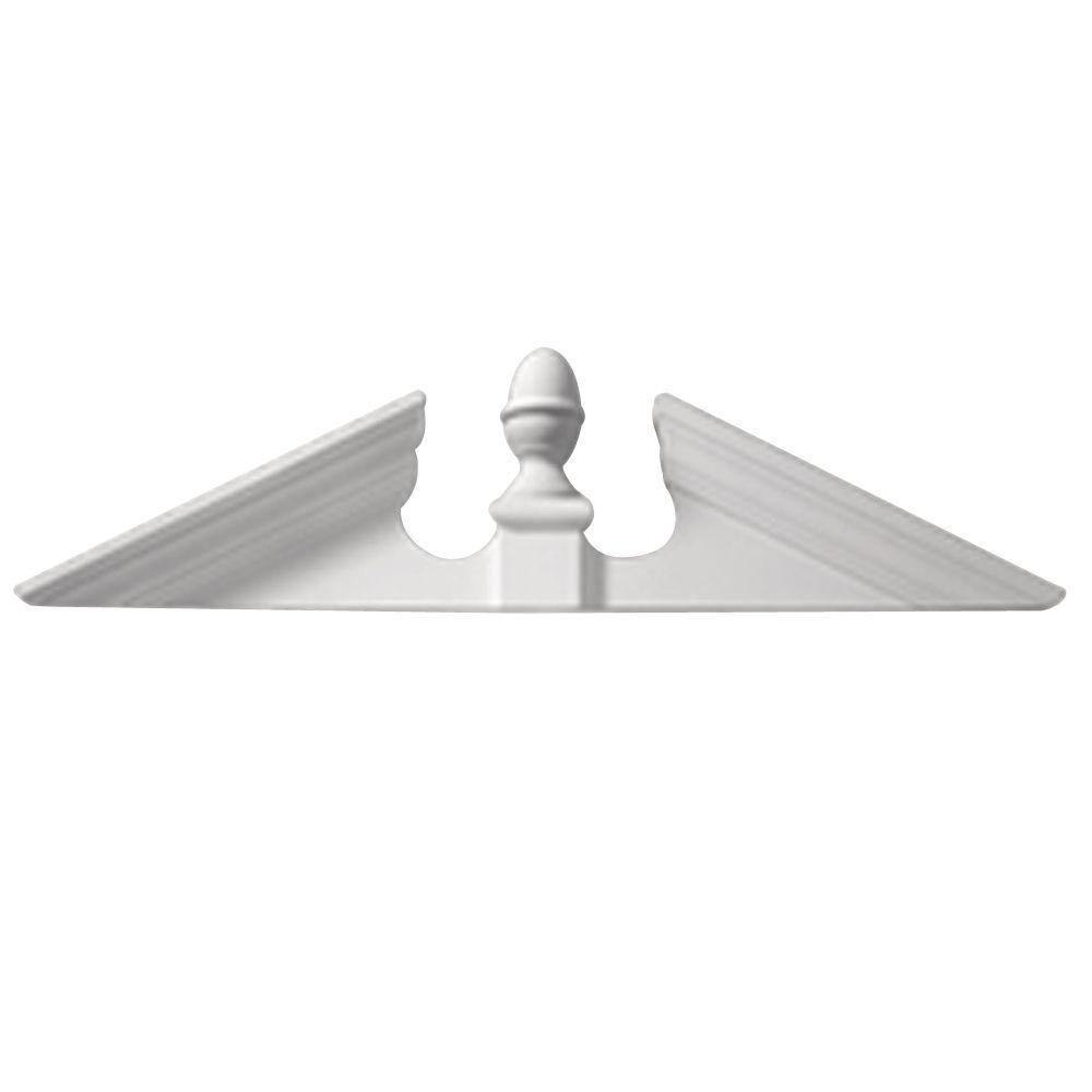 115 Inch x 25-5/8 Inch x 4-1/2 Inch Smooth Adjustable Acorn Pediment