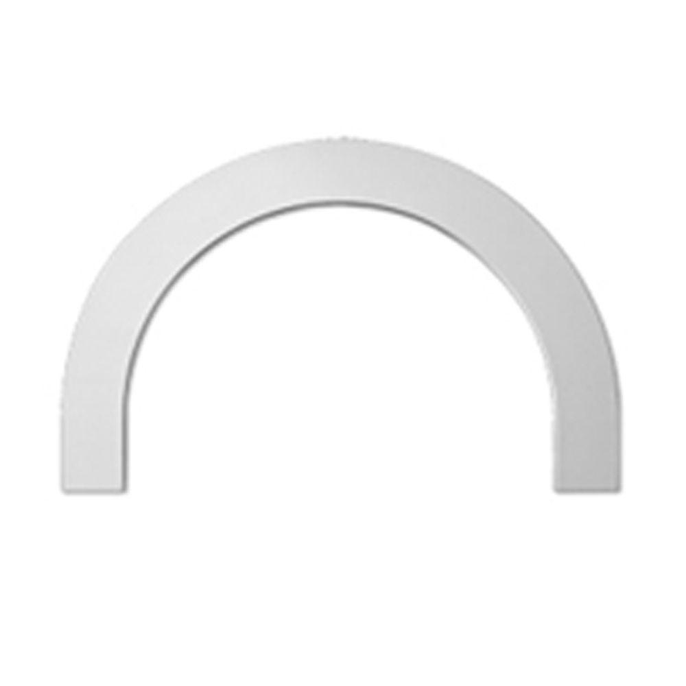 33-5/8 Inch x 9 Inch x 4-1/2 Inch Polyurethane Half Round Arch Trim Flat