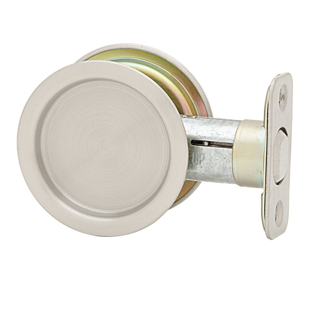 1030 Round Satin Nickel Pocket Door Passage Lock