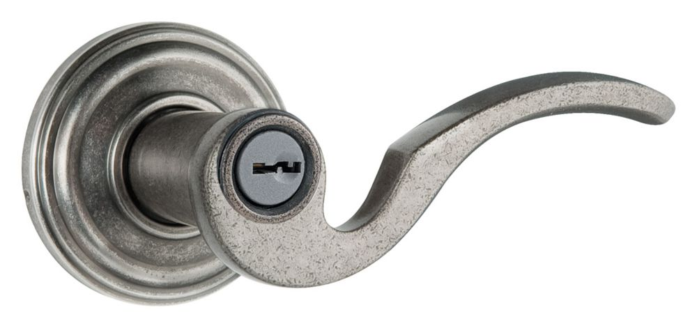 Weiser Brooklane Rustic Pewter Entry Lever