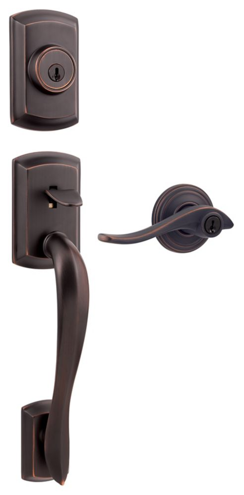 Avalon Single Cylinder Handleset w/Avalon Lever in Venetian Bronze 9GCL94710-007 Canada Discount