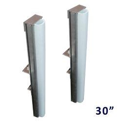 Multinautic Pair (2) PVC and aluminum Vertical 30 inch Dock Bumpers