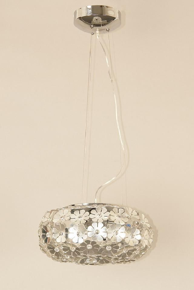 Halogen Chrome Suspension with Crystal Inserts from Zirco Collection 606-07-CHR Canada Discount