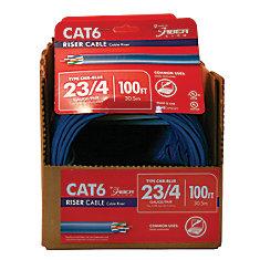 CAT 6E 23/4PR CMR 100 Feet BLUE