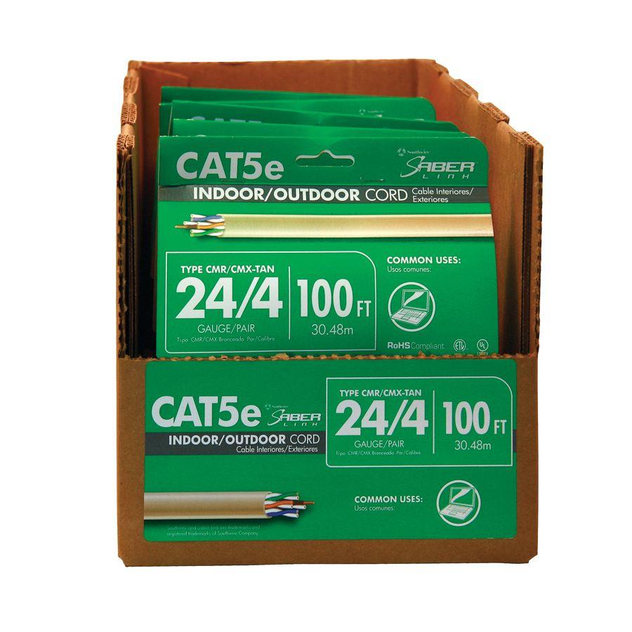CAT 5E 24/4PR RISER 100 Feet GRAY