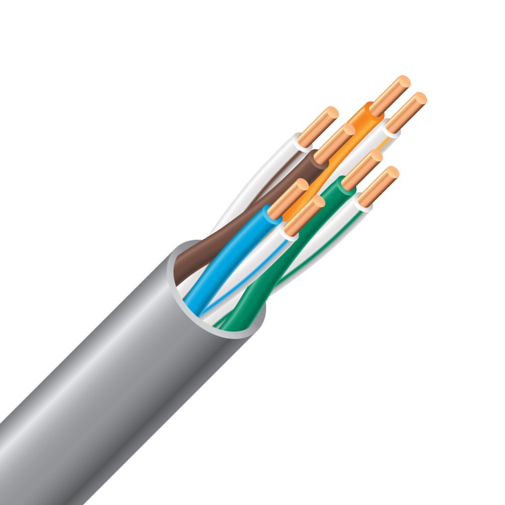 CAT 5e Electrical Riser Cable - 24/4 Grey 300m