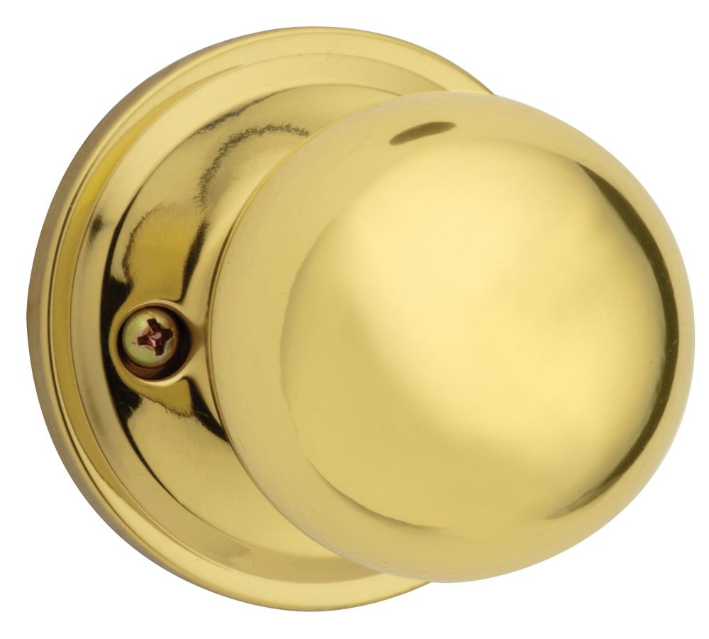 Huntington Dummy Knob in Polished Brass