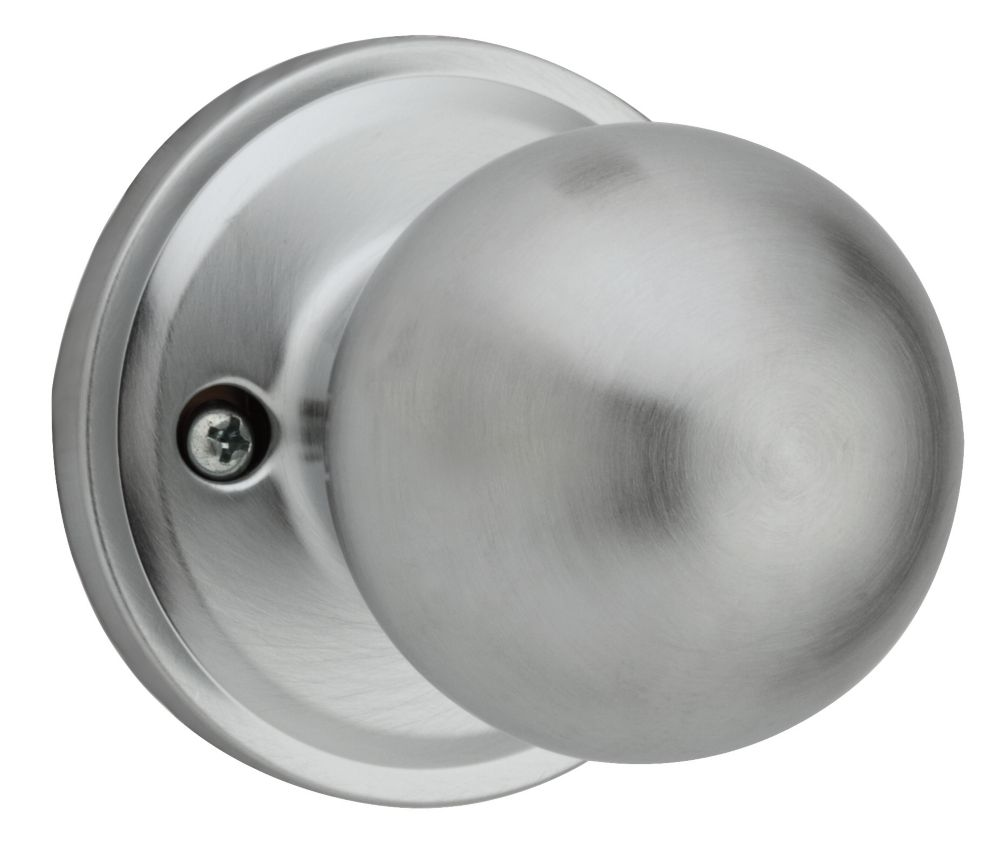 Schlage Dummy Knob Plymouth Satin Chrome The Home Depot