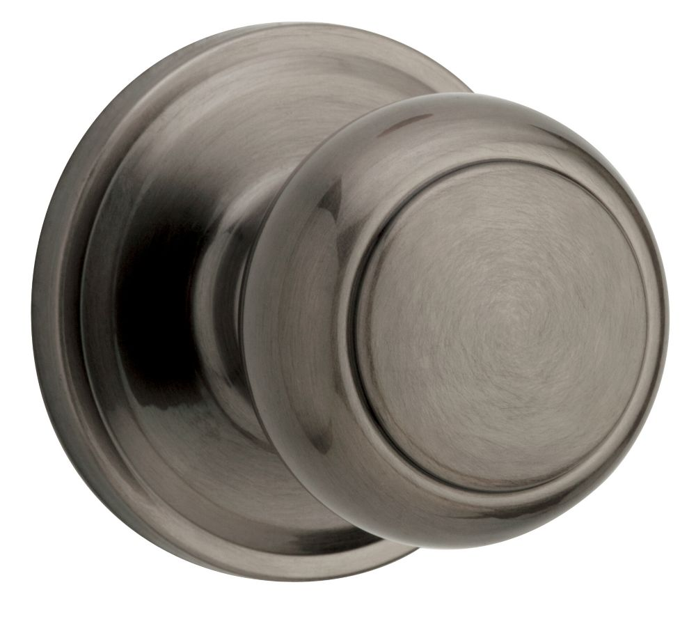 Troy Antique Nickel Passage Knob