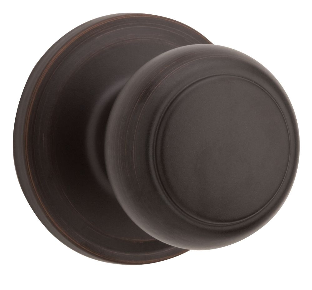 Weiser Troy Passage Knob in Venetian Bronze