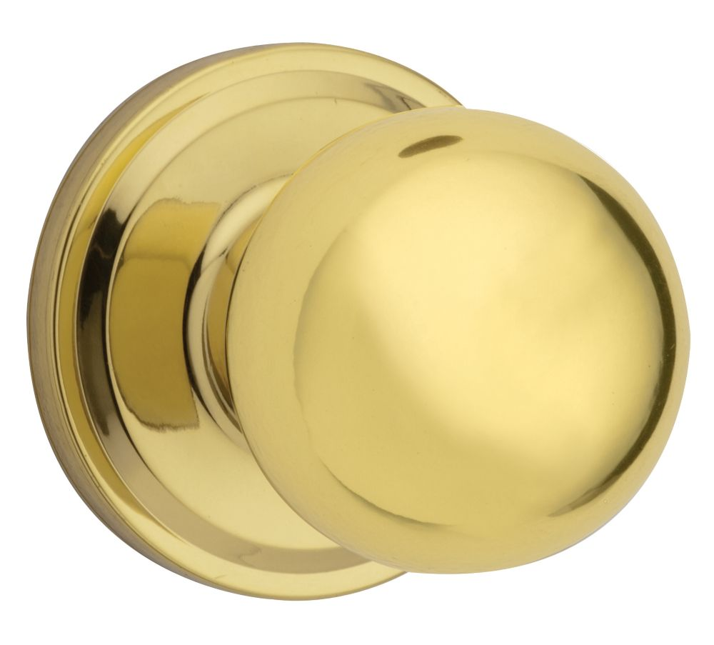 Huntington Passage Knob in Polished Brass