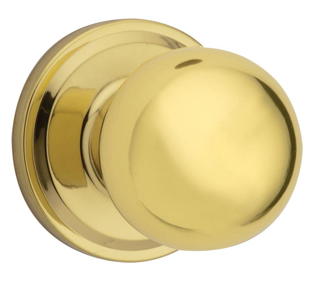 Weiser Huntington Passage Knob in Polished Brass