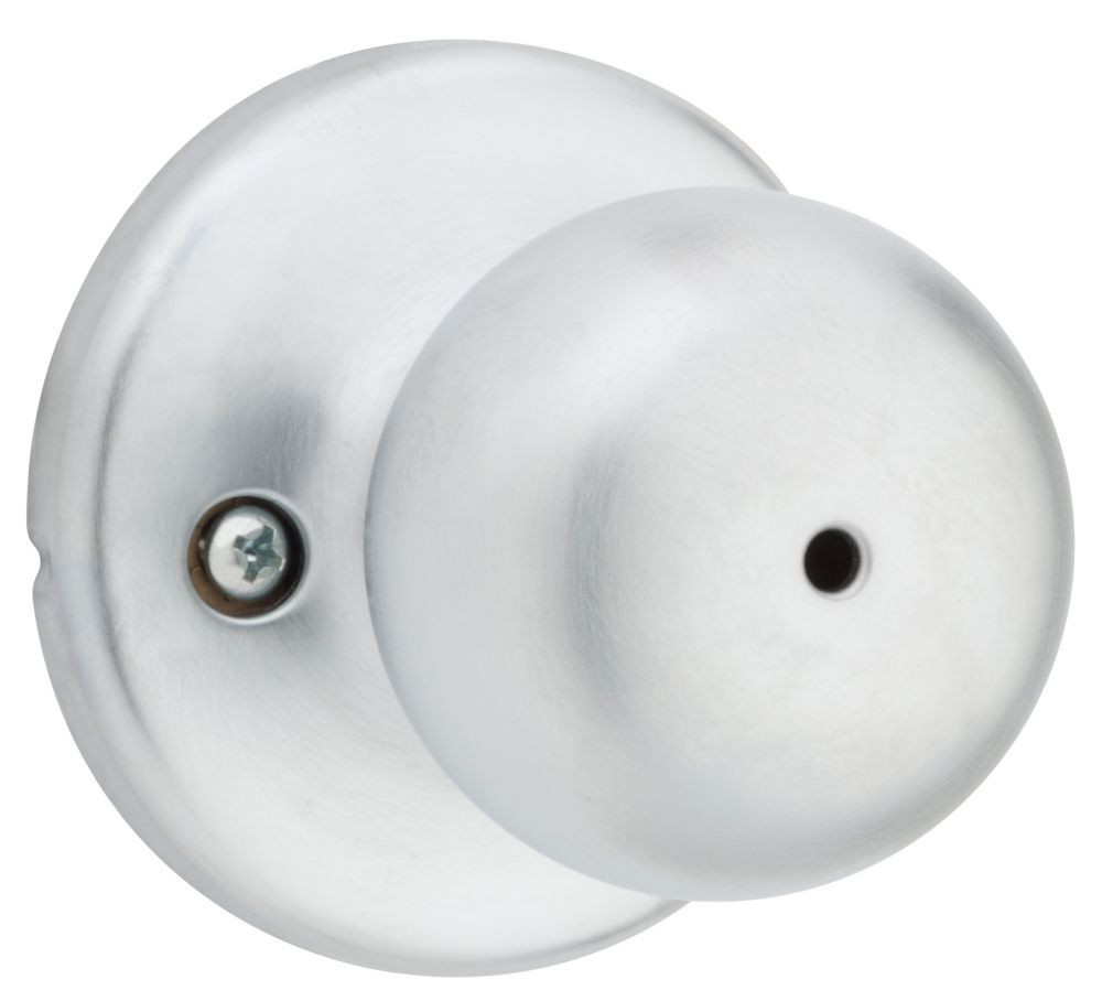 Fairfax Satin Chrome Privacy Knob