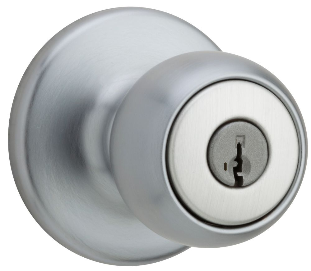 Fairfax Satin Chrome Entry Knob