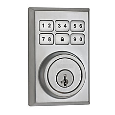 SmartCode Contemporary Satin Chrome Keyless Entry Electronic Deadbolt