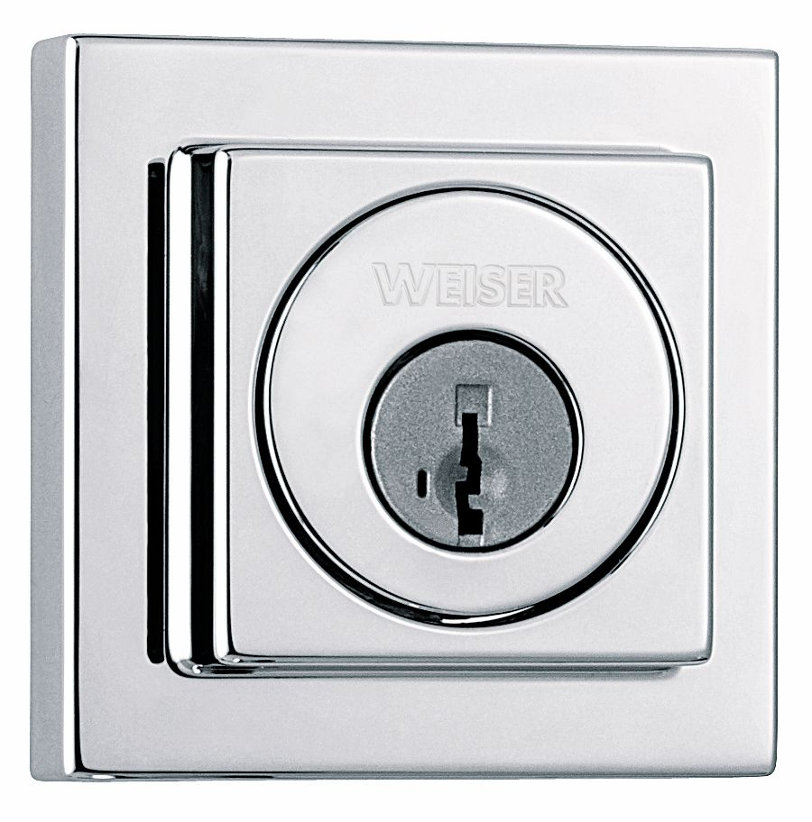 3471 Polished Chrome Single Cylinder Deadbolt