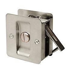 1031 Satin Nickel Square Privacy Pocket Door Lock