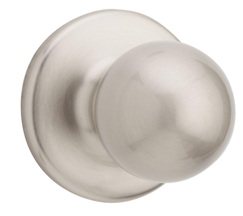 Yukon passage et penderie bouton Nickel Satin